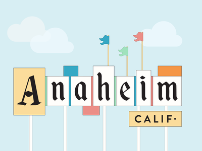 Anaheim, Calif. disney anaheim design illustrator graphic-design graphic design