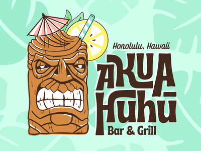 Tiki Ron Swanson - Akua Huhu parks and recreation parks and rec tiki hawaiian illustration design illustrator graphic-design graphic design ron swanson