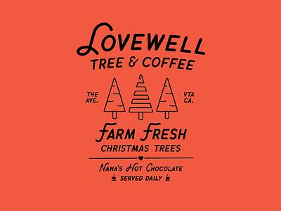 Lovewell Tree Farm tree christmas illustration design typography illustrator graphic-design graphic design
