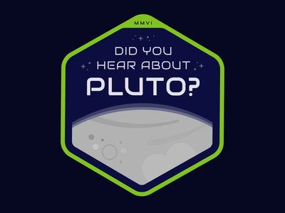 Psych - Did you hear about Pluto? illustration design illustrator graphic-design graphic design solar planet psych pluto