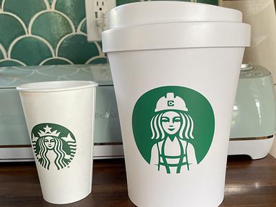 Starbucks logo Parody parody starbuck logo starbucks illustration design illustrator graphic-design graphic design