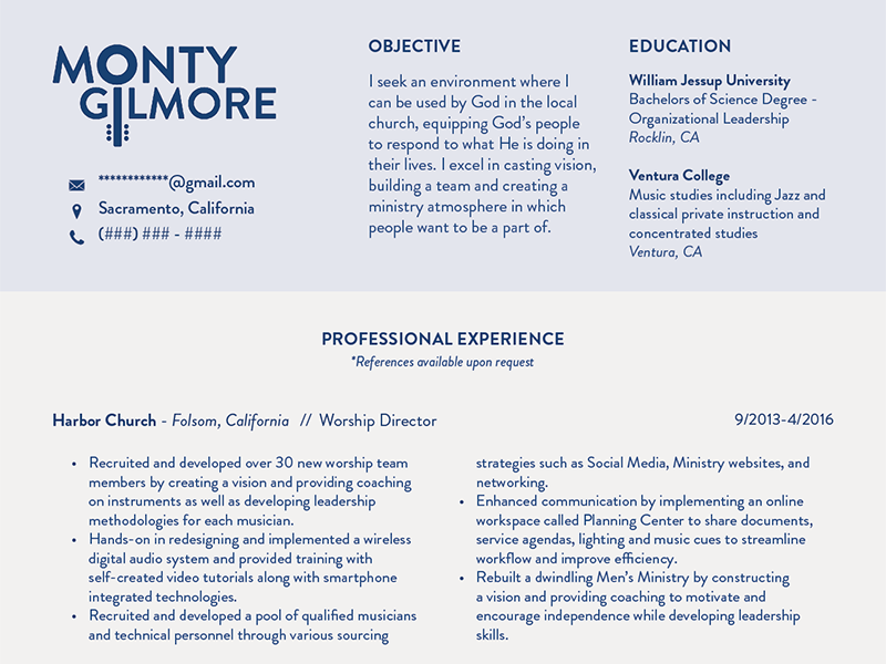 Worship Leader Resume Cover Letter Example Resume Template With ...