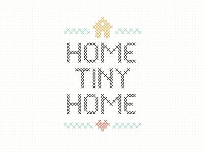 Home Tiny Home tiny house retro vintage home house cross-stitch dwnsz