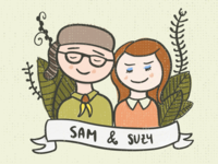 Sam & Suzy Moonrise Kingdom Illustration