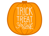 Trick or Treat Yo'Self Pumpkin Sticker