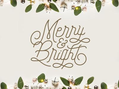 Merry & Bright freeday font bright merry christmas design illustrator graphic-design typography graphic design