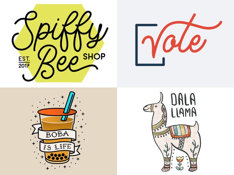 #Top4Shots of 2018 illustration design branding logo illustrator typography graphic-design graphic design 2018 top4shots