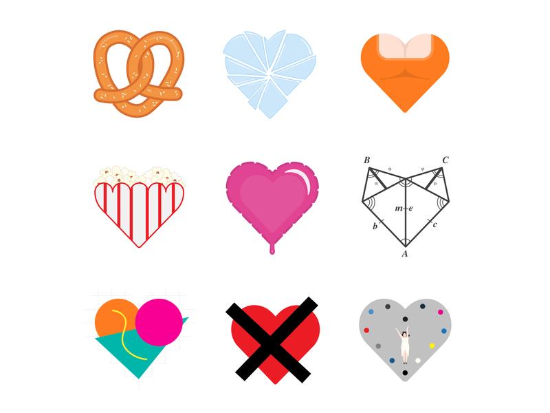 Crazy Ex-Girlfriend - Crazy Hearts pretzel love kernels hearts crazy ex-girlfriend illustration graphic-design design graphic design