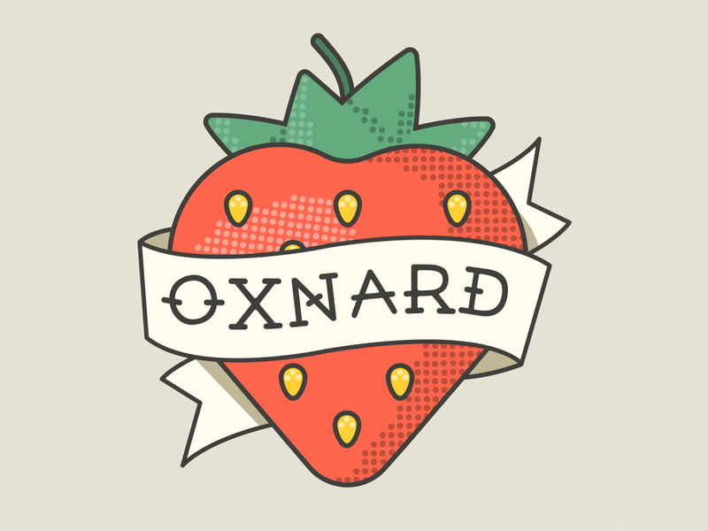 Oxnard Tattoo Style pop art tattoo style so cal strawberry design illustrator graphic-design graphic design oxnard