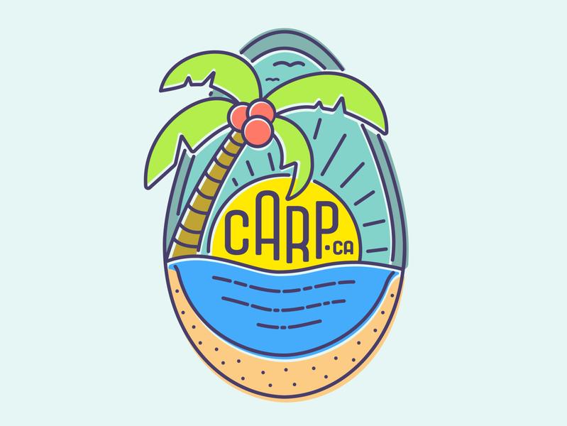 Carp/Carpinteria, CA bright colors monoline design illustrator graphic-design graphic design socal beach carp carpinteria