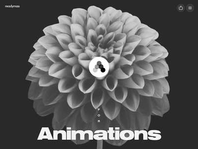 Readymag Animations webitorial typography video animation microsite readymag