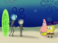 Uncertainty sea portalgun portal morty smith rick sanchez rick and morty patrick star patrick spongebob squarepants spongebob show design movie adventure comedy funny fun cartoon illustration procreate