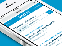 UI mobile listings view for UNI.at