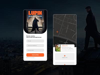 Jeu de piste Lupin - App app mobile graphic design ui