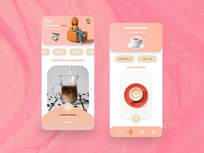 Coffee tracker - App mobile app design ui