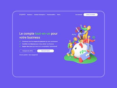Qonto - Webpage redesign graphic design design ui