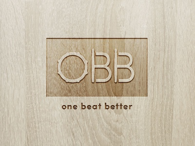 One Beat Better Logo type letters typography logotype drum sticks drum wood