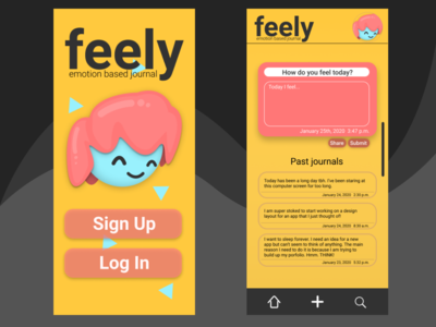 Feely Emotional Journal (Concept App)