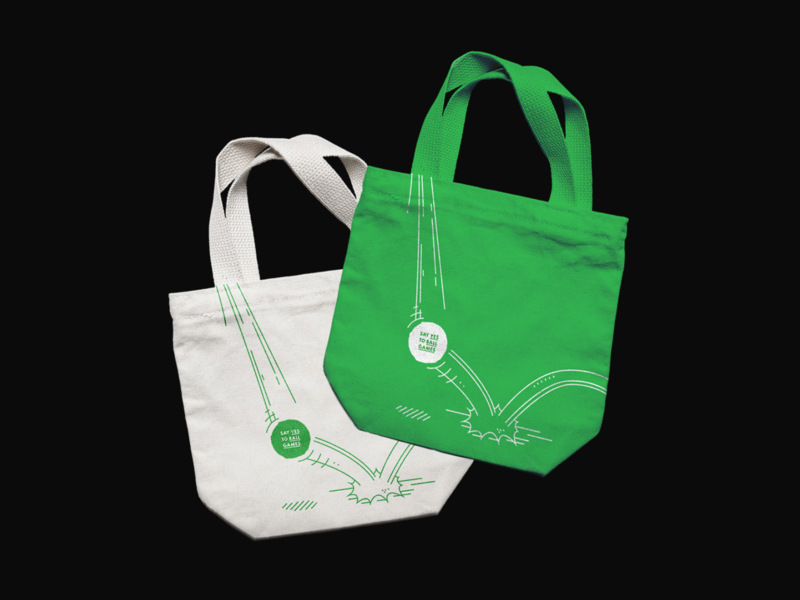 Say Yes To Ball Games - Tote bags design