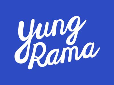 Yung Rama illustration flat icon branding logo