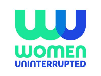 Women Uninterrupted Logo illustration flat icon branding logo