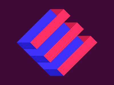 Endless Magazine illustration flat icon branding logo