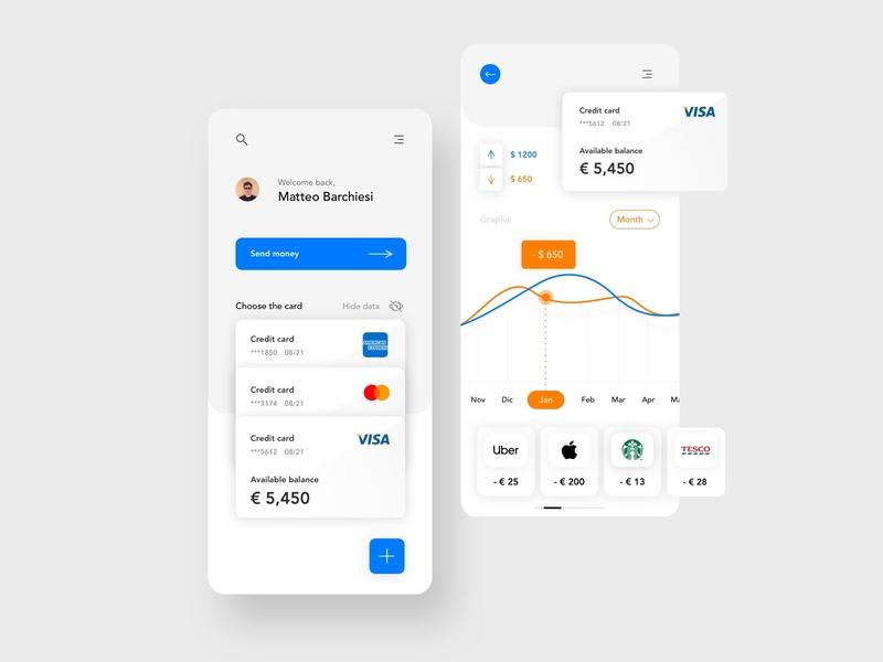 Home Bank App design