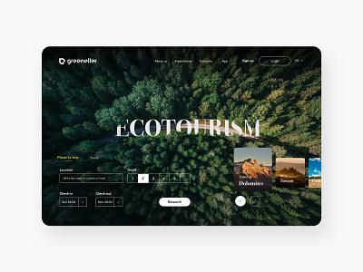 Ecoturism - Web Design tourist web webdesign ecotourism trip traveling travel agency dashboad card creative dribbble clean ui typography design ux ui concept