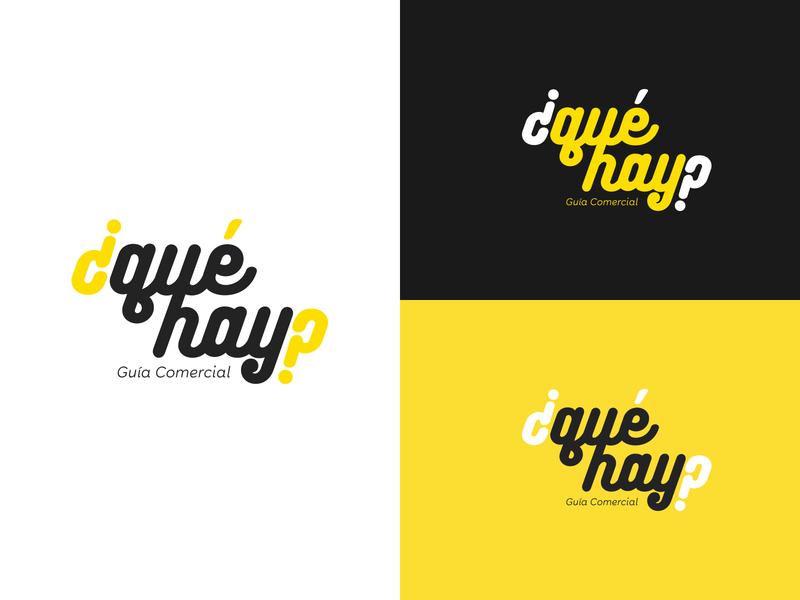 ¿qué hay? branding illustration creative logotype design