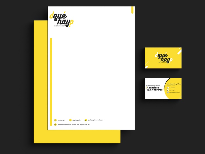 ¿qué hay? Papelería creative typography logo design branding