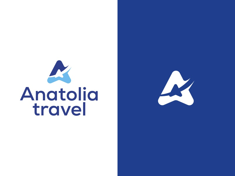 Anatolia travel vector icon logotype creative design