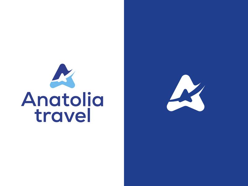 Anatolia travel vector icon logotype creative design
