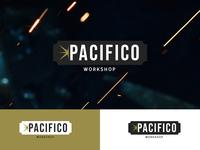 Pacifico workshop logo logotype creative branding design