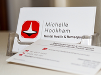 Business cards for Michelle Hookham