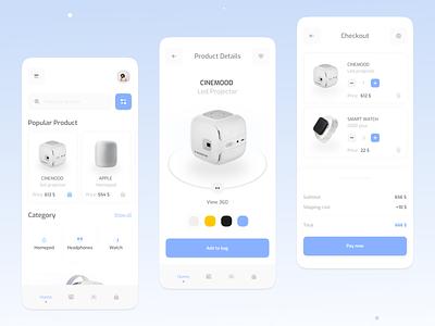 Electronic store app mobile mobile app ux app design ui minimal