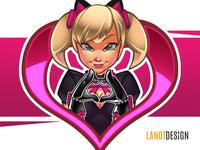Black Cat D.Va Fan Art Illustration