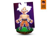 Ultra Instinct Son Goku Fan Art Illustration