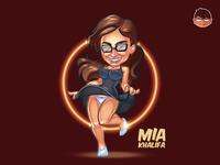 Mia Khalifa Fan Art Illustration