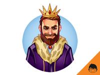King Romeo Mascot