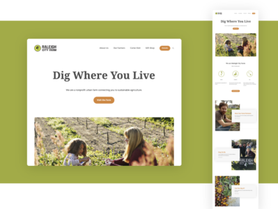 Website re-design, Raleigh City Farm nc raleigh design uiux ux ui website builder web development web design website web