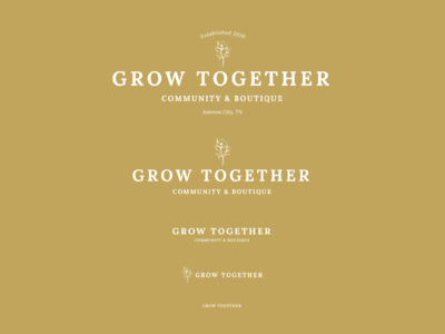 Responsive logo design - Grow Together