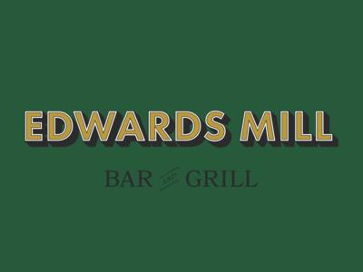 Edwards Mill Bar And Grill - Full logo lockup