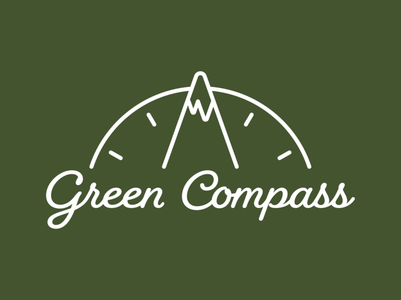 Green Compass - Main logo lockup branding brand design logo design font type text nc raleigh graphic design typography design brand identity logo