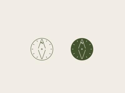Green Compass - Logo marks
