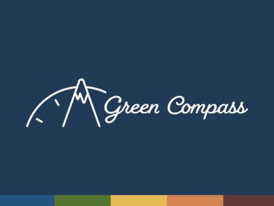 Green Compass - alternate horizontal logo lockup