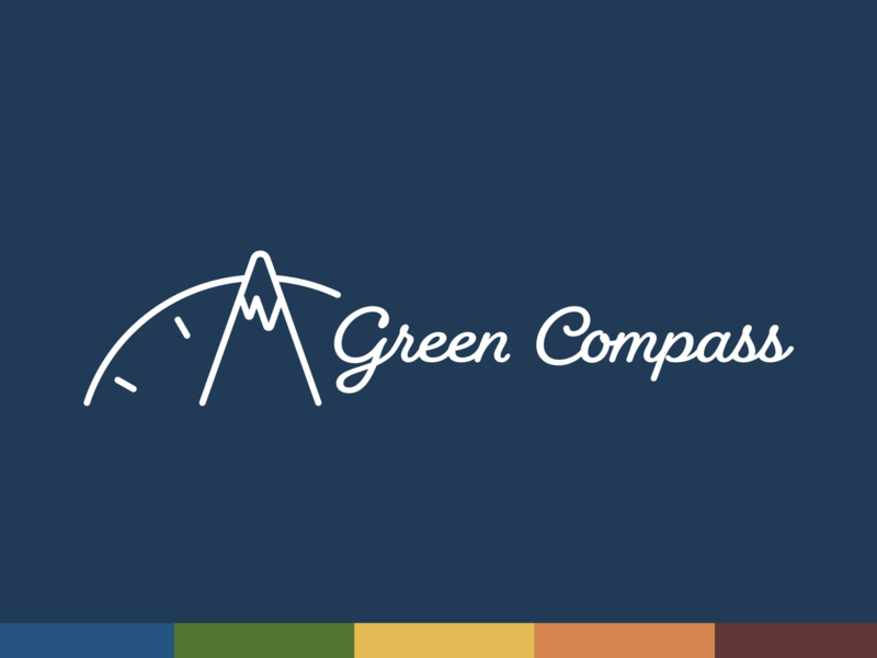 Green Compass - alternate horizontal logo lockup non profit non-profit nonprofit identity design brand guide north carolina branding brand design logo design font type text nc raleigh logo graphic design typography identity brand design