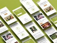 Isometric mobile website design - Raleigh City Farm