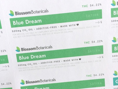 Blossom Product Labels