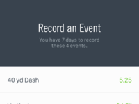 Record an Event nike sports football app ios mobile record capture