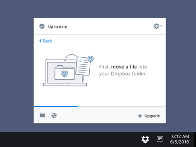 Dropbox Desktop Onboarding illustration menubar desktop product design dropbox onboarding